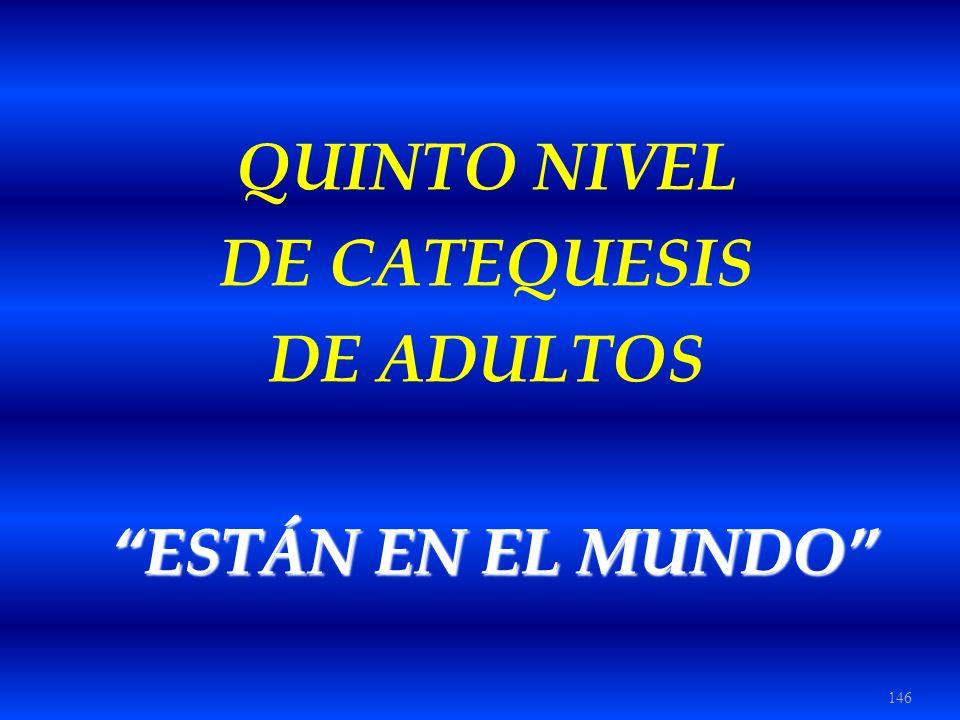 QUINTO NIVEL DE CATEQUESIS DE ADULTOS ESTÁN EN EL MUNDO