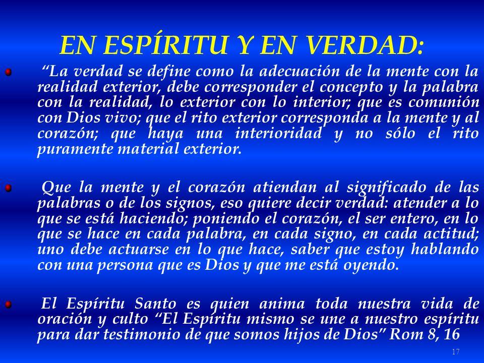 EN ESPÍRITU Y EN VERDAD: