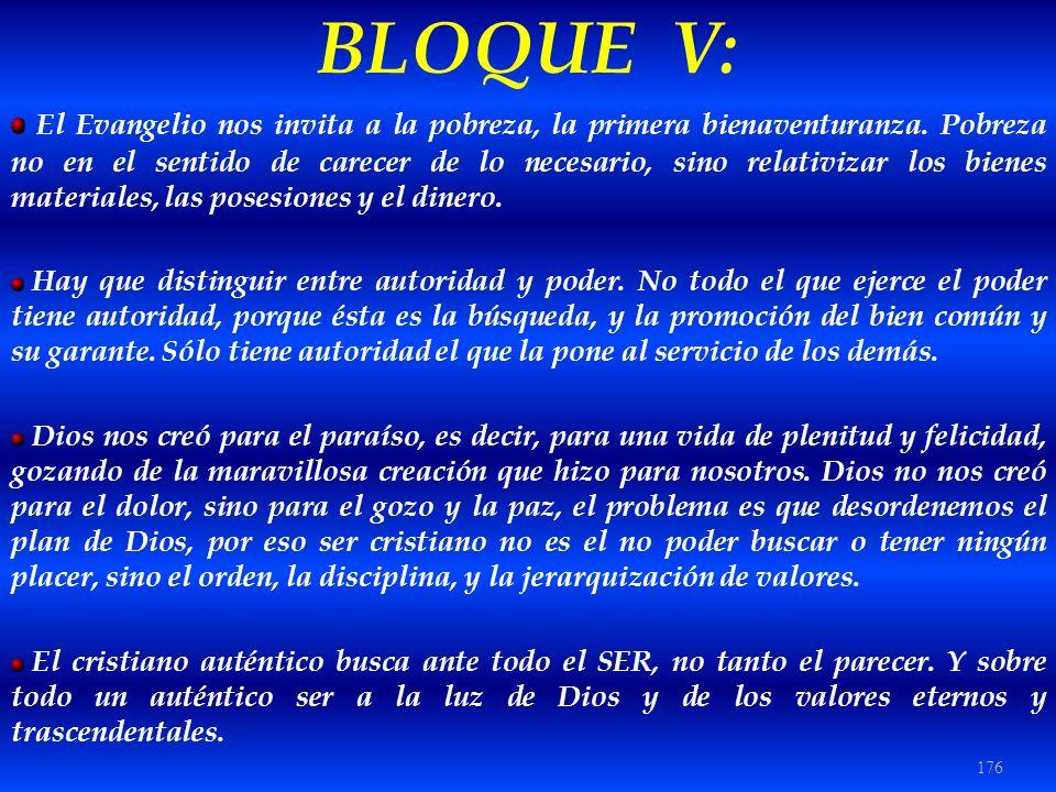 BLOQUE V: