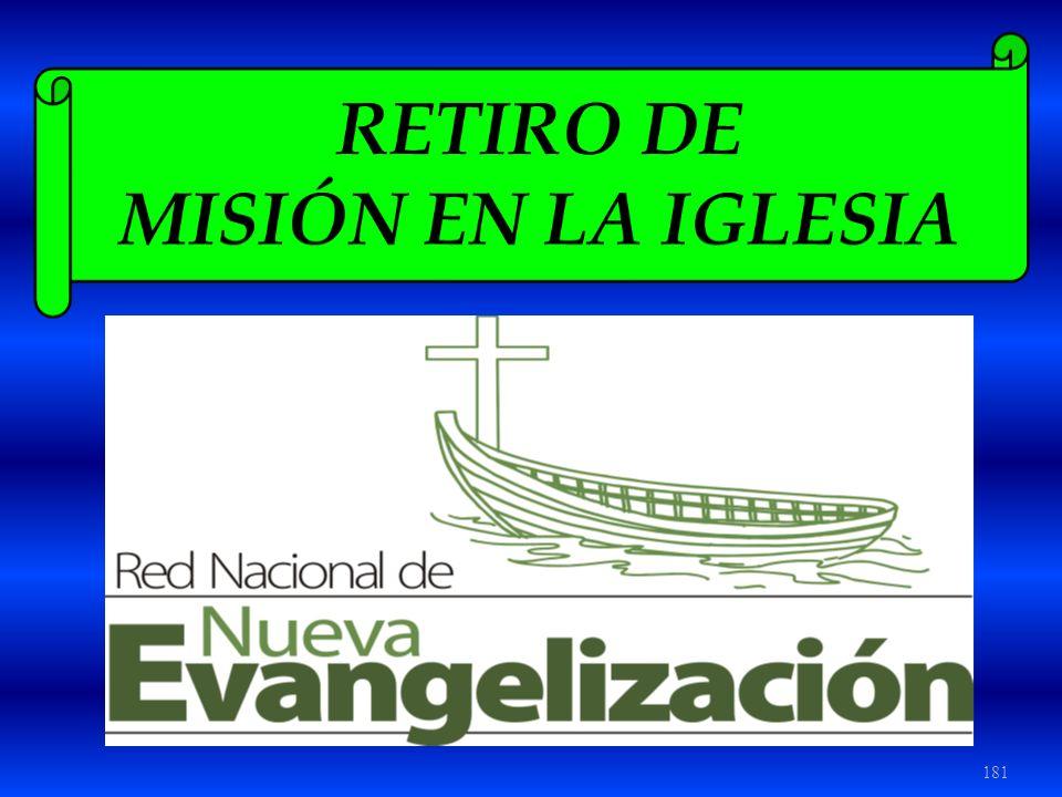 RETIRO DE MISIÓN EN LA IGLESIA