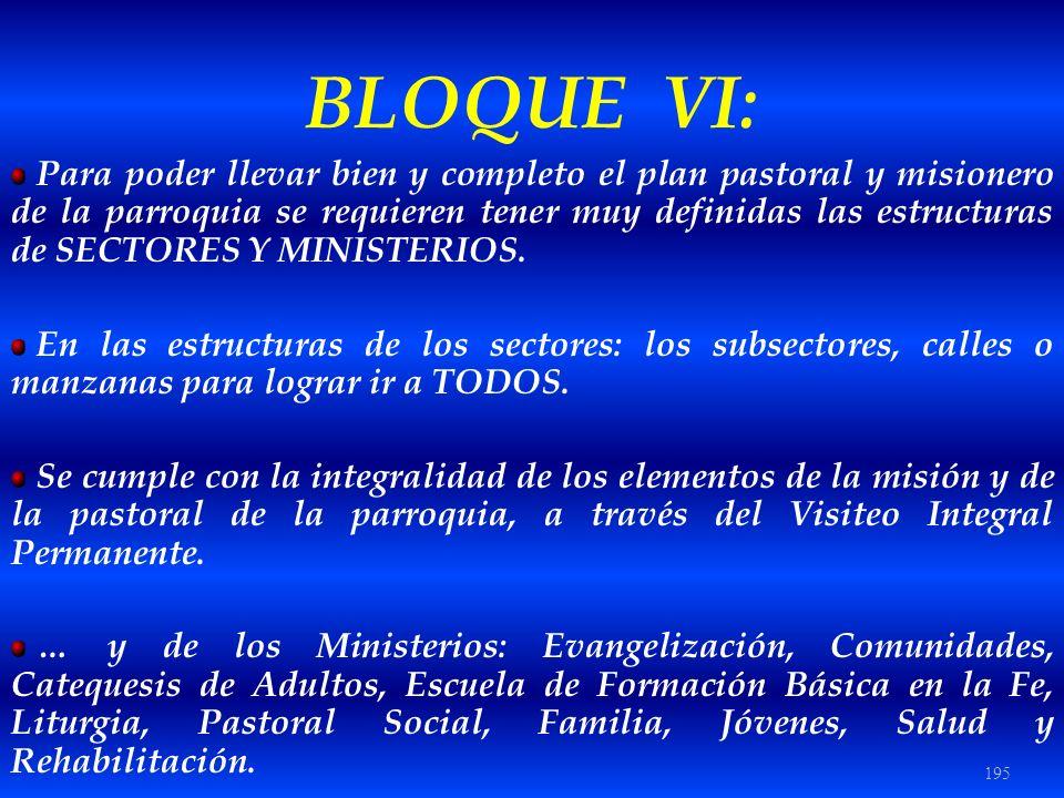 BLOQUE VI: