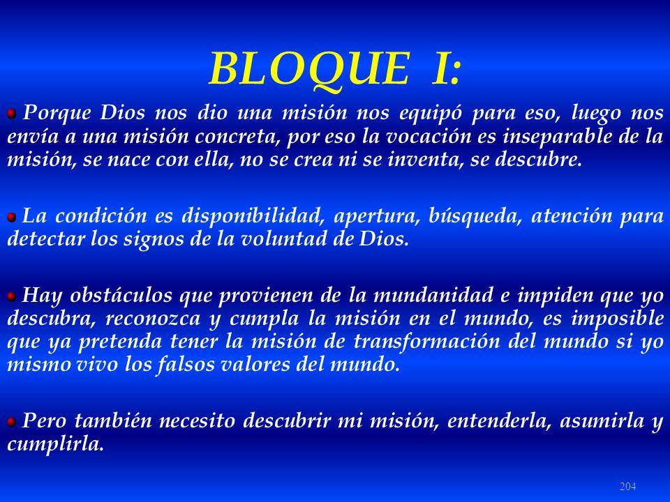 BLOQUE I: