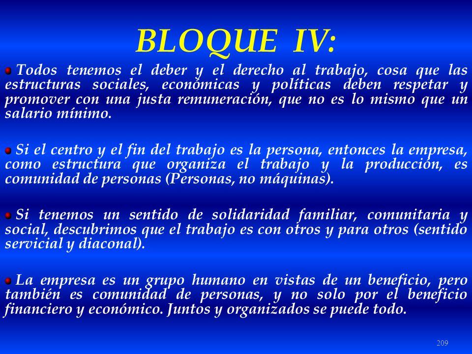 BLOQUE IV: