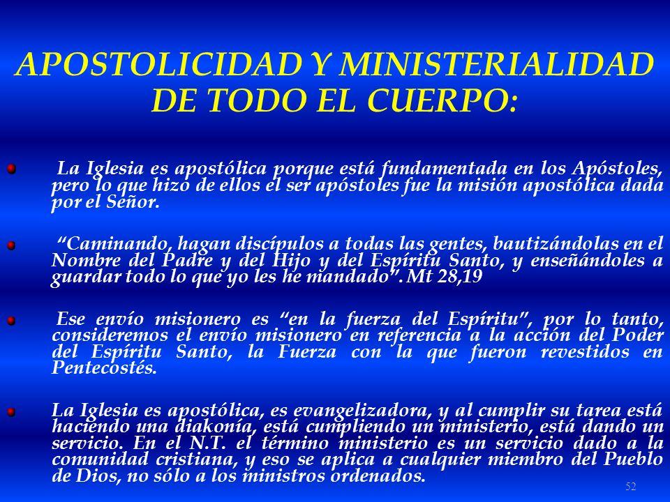 APOSTOLICIDAD Y MINISTERIALIDAD