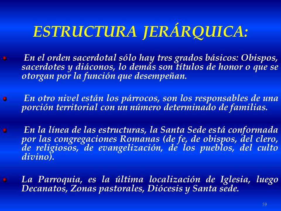 ESTRUCTURA JERÁRQUICA: