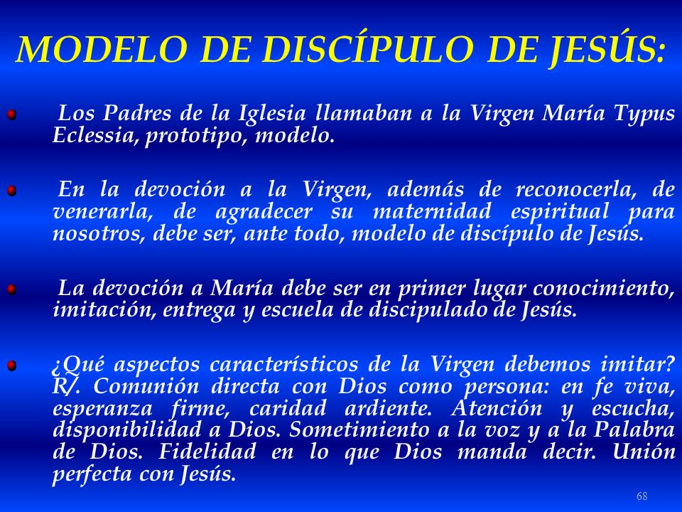 MODELO DE DISCÍPULO DE JESÚS: