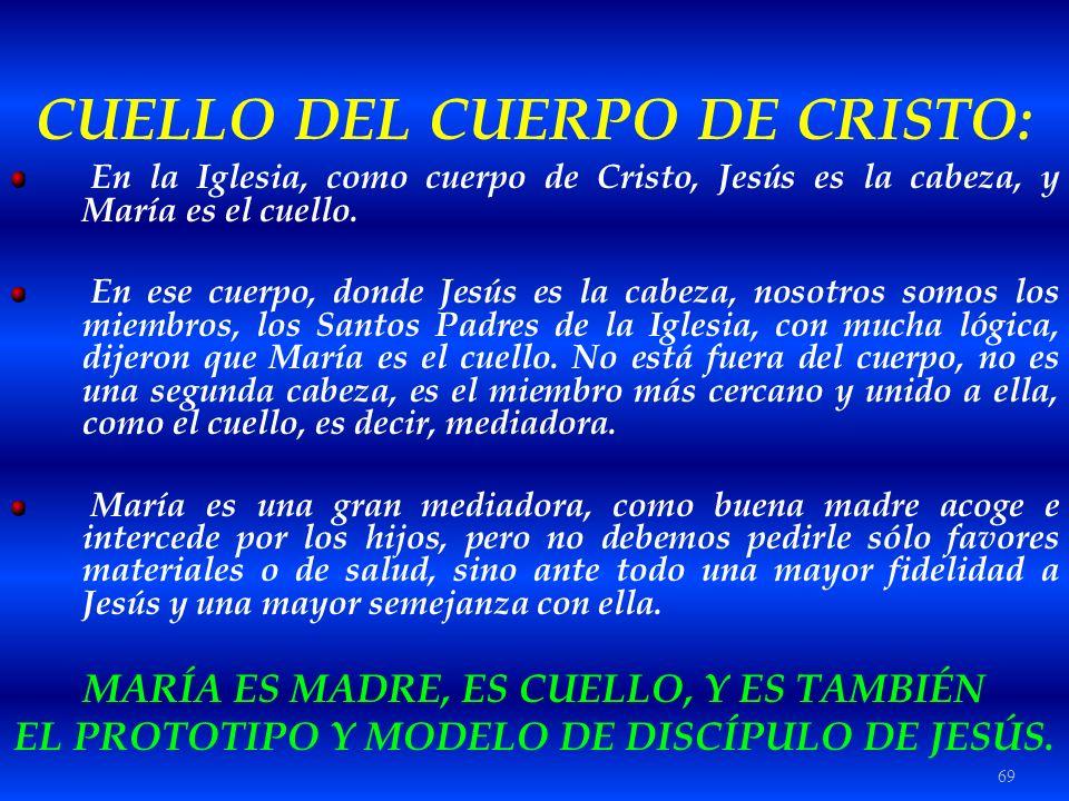 CUELLO DEL CUERPO DE CRISTO:
