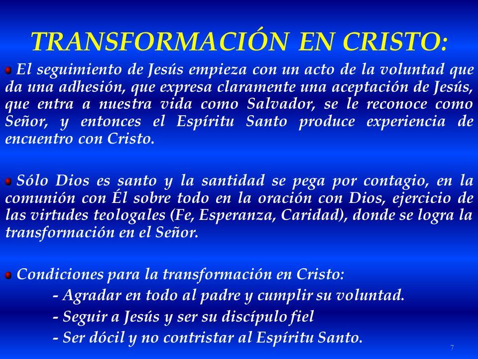 TRANSFORMACIÓN EN CRISTO: