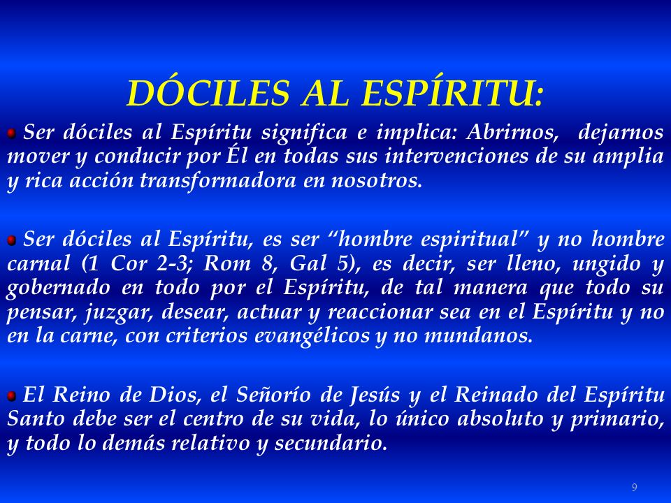 DÓCILES AL ESPÍRITU: