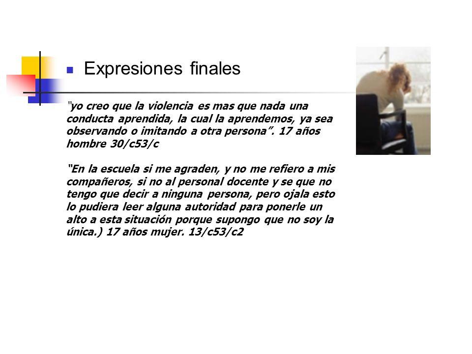 Expresiones finales