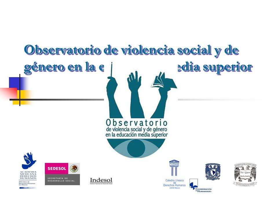 Observatorio de violencia social y de género en la educación media superior