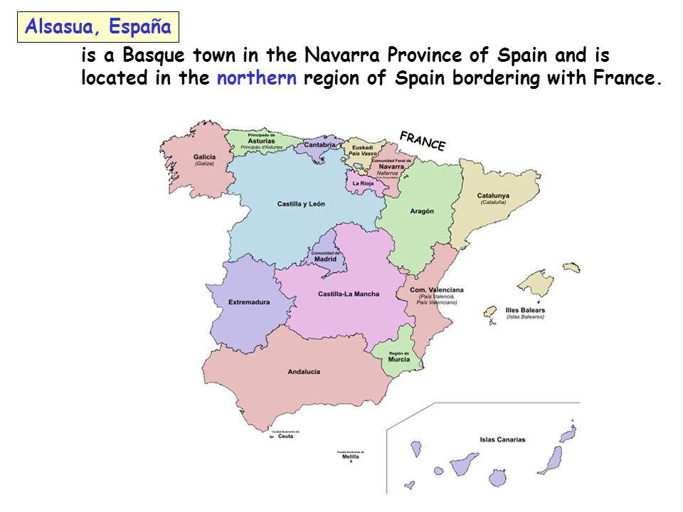is a Basque town in the Navarra Province of Spain and is