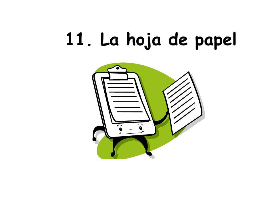 11. La hoja de papel