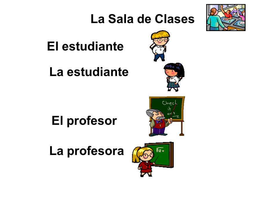 La Sala de Clases El estudiante La estudiante El profesor La profesora