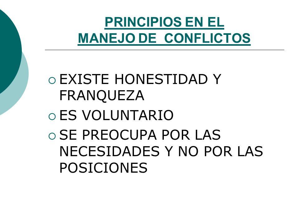 PRINCIPIOS EN EL MANEJO DE CONFLICTOS