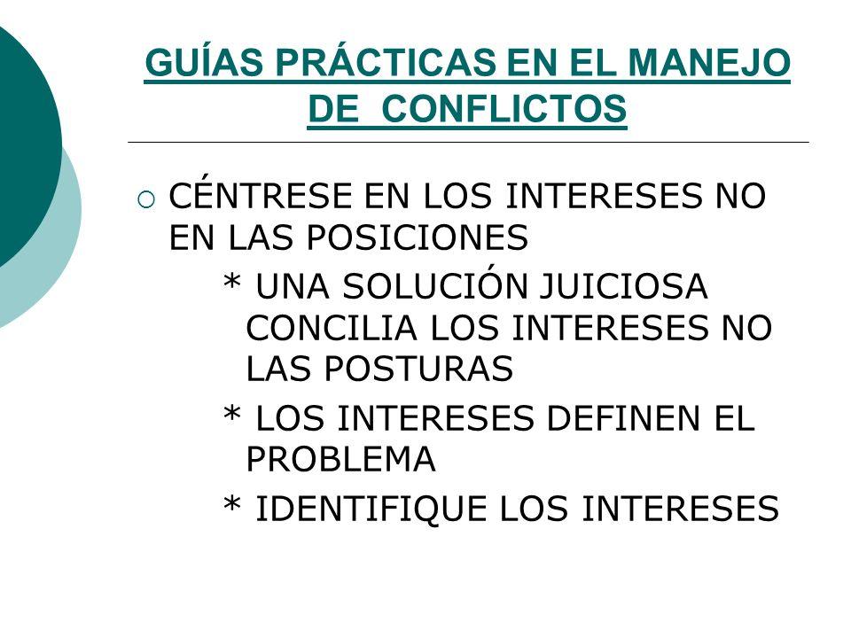 GUÍAS PRÁCTICAS EN EL MANEJO DE CONFLICTOS