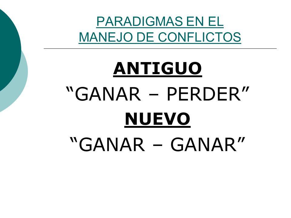PARADIGMAS EN EL MANEJO DE CONFLICTOS
