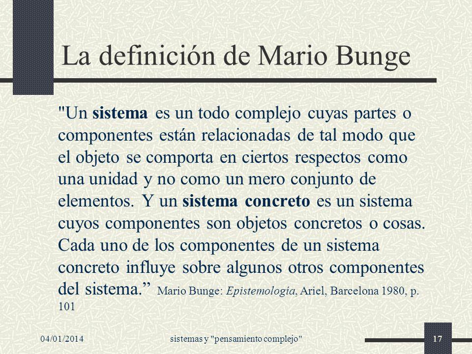 La definición de Mario Bunge