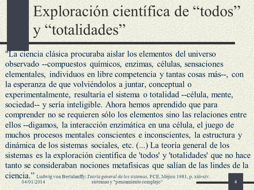 Exploración científica de todos y totalidades