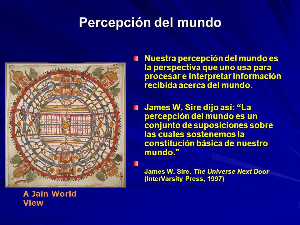 Percepción del mundo Nuestra percepción del mundo es la perspectiva que uno usa para procesar e interpretar información recibida acerca del mundo.