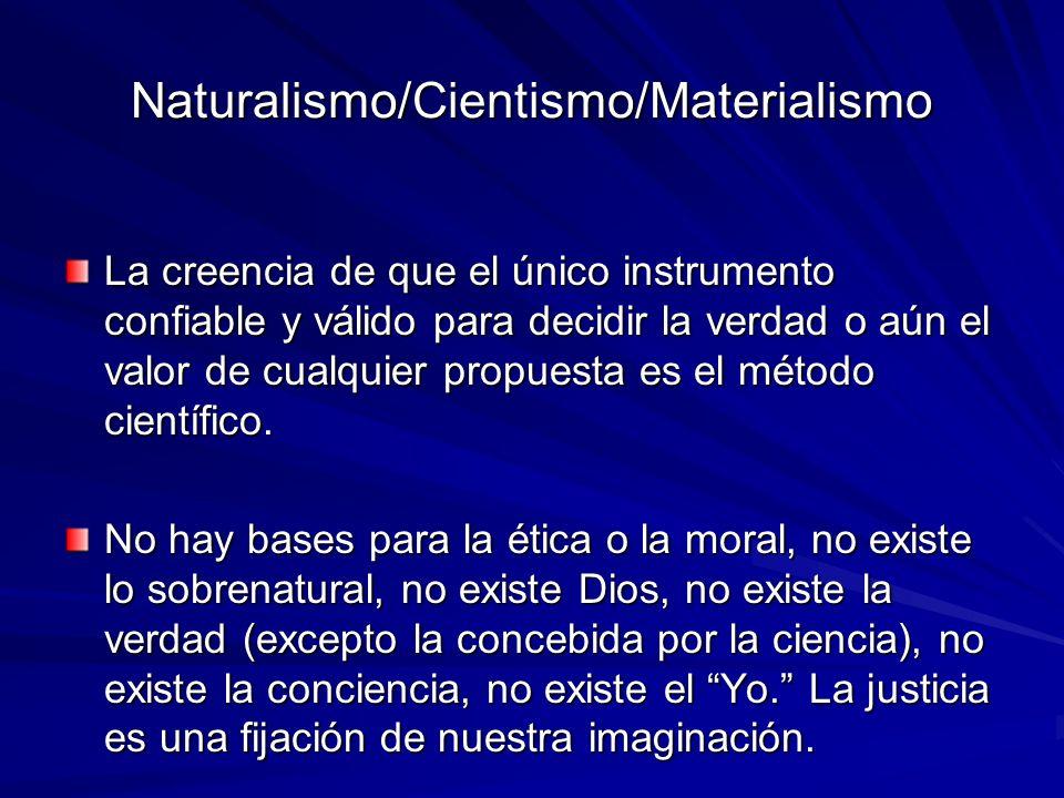 Naturalismo/Cientismo/Materialismo