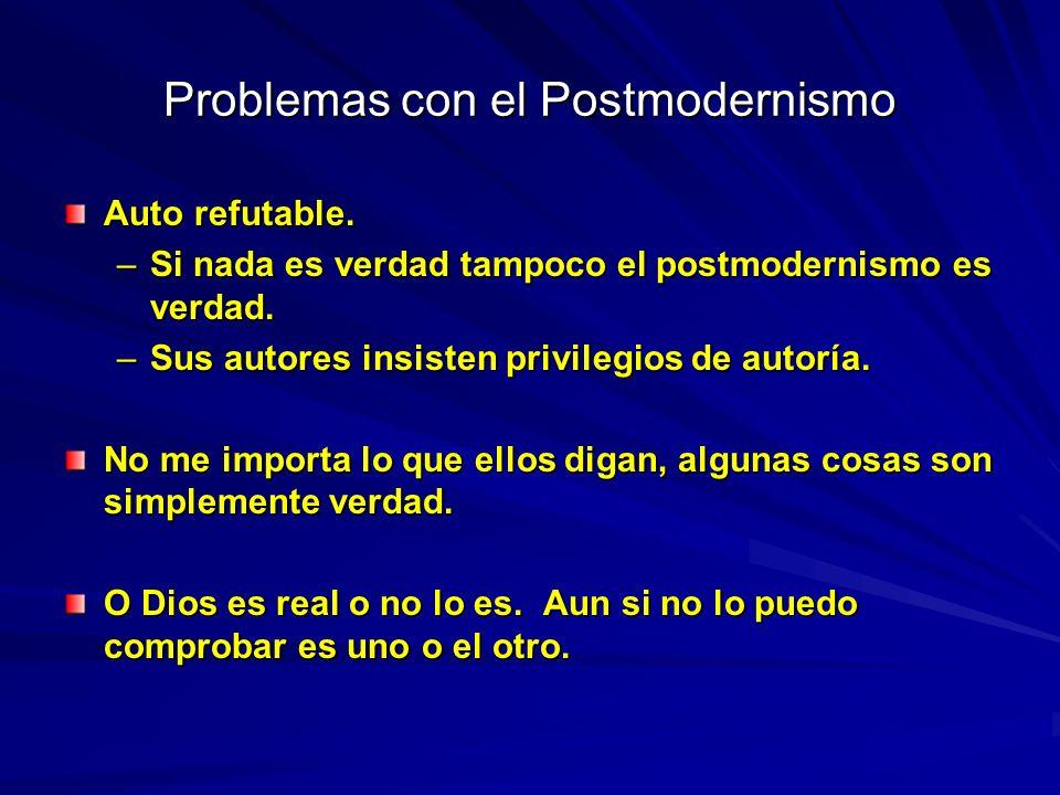 Problemas con el Postmodernismo