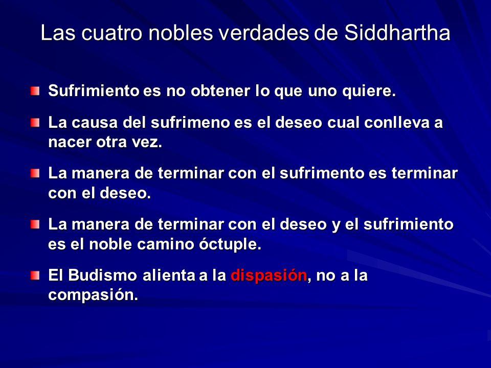 Las cuatro nobles verdades de Siddhartha
