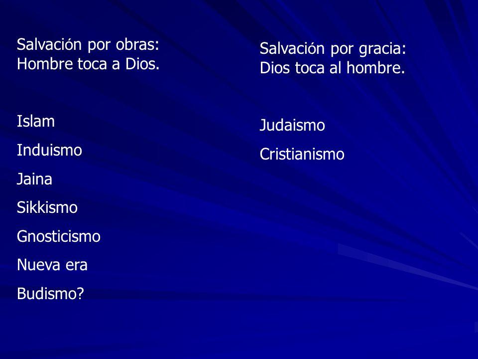 Salvación por obras: Hombre toca a Dios.