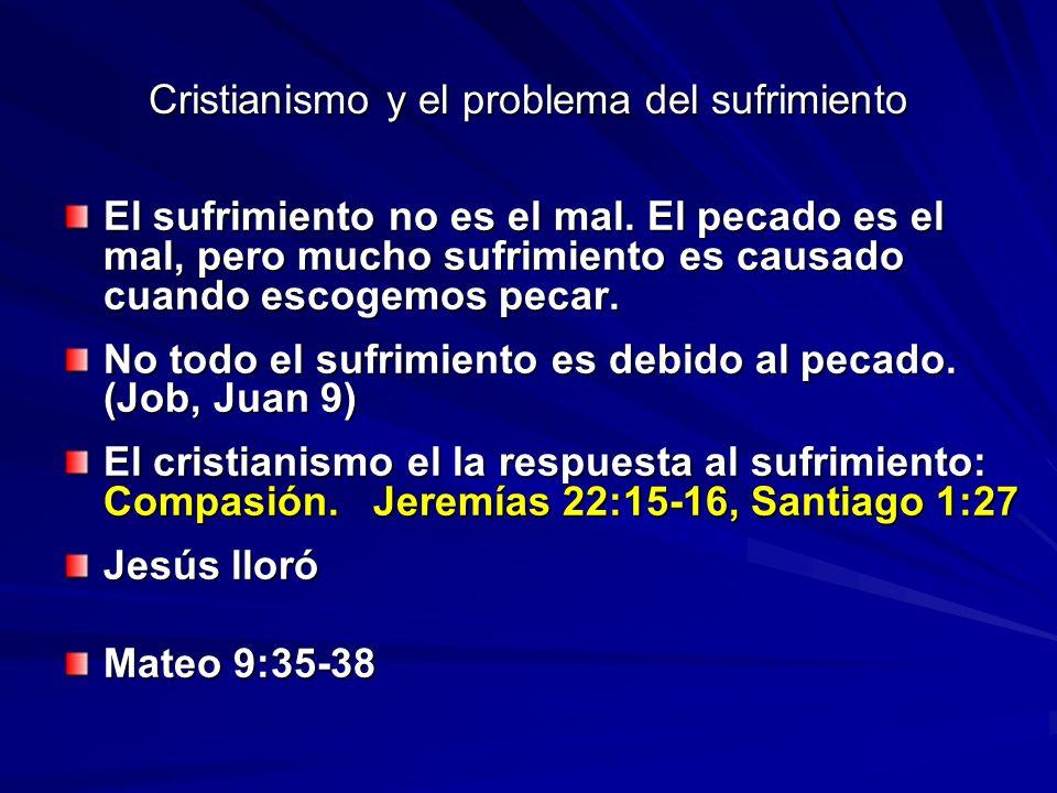 Cristianismo y el problema del sufrimiento