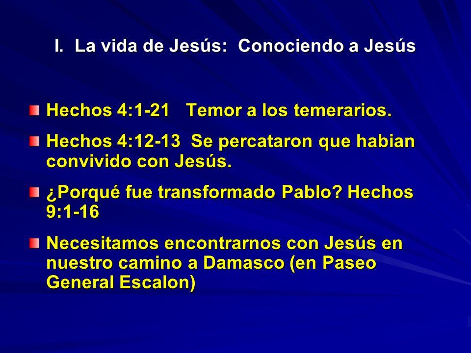 I. La vida de Jesús: Conociendo a Jesús