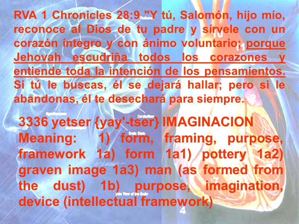 3336 yetser {yay -tser} IMAGINACION