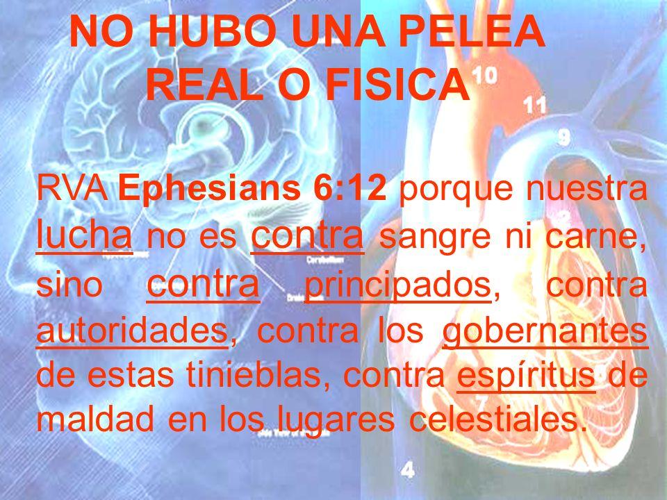 NO HUBO UNA PELEA REAL O FISICA
