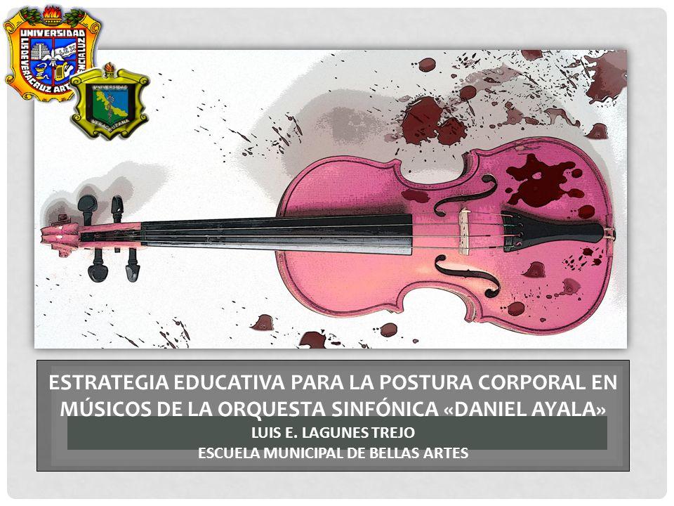 Estrategia educativa para la postura corporal en músicos de la orquesta sinfónica «daniel ayala» Luis E.