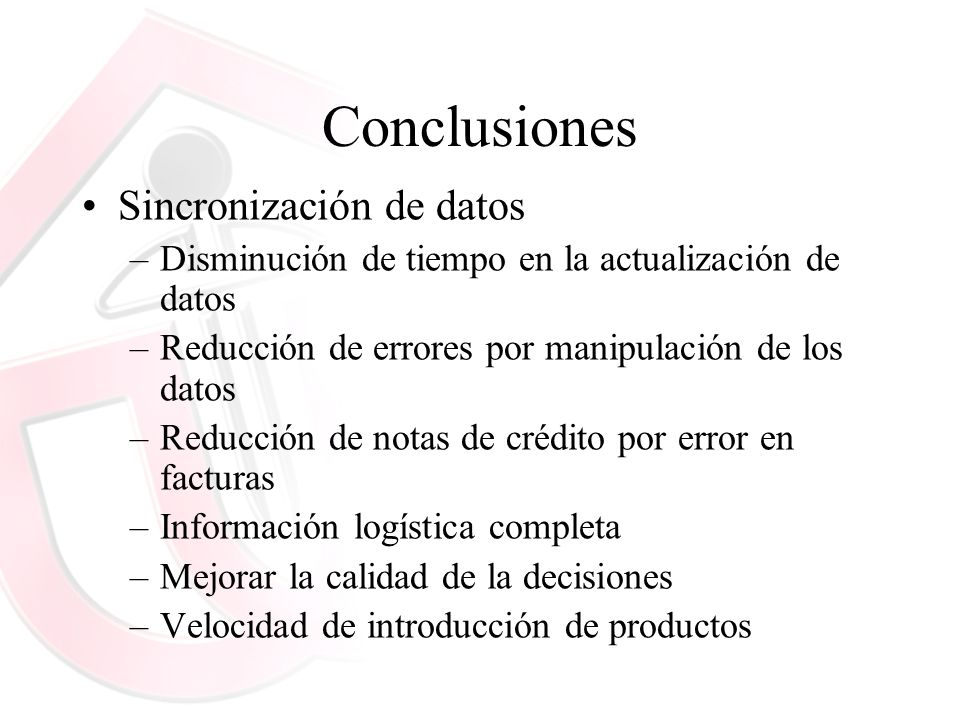 Conclusiones Sincronización de datos