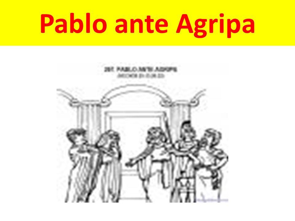 Pablo ante Agripa