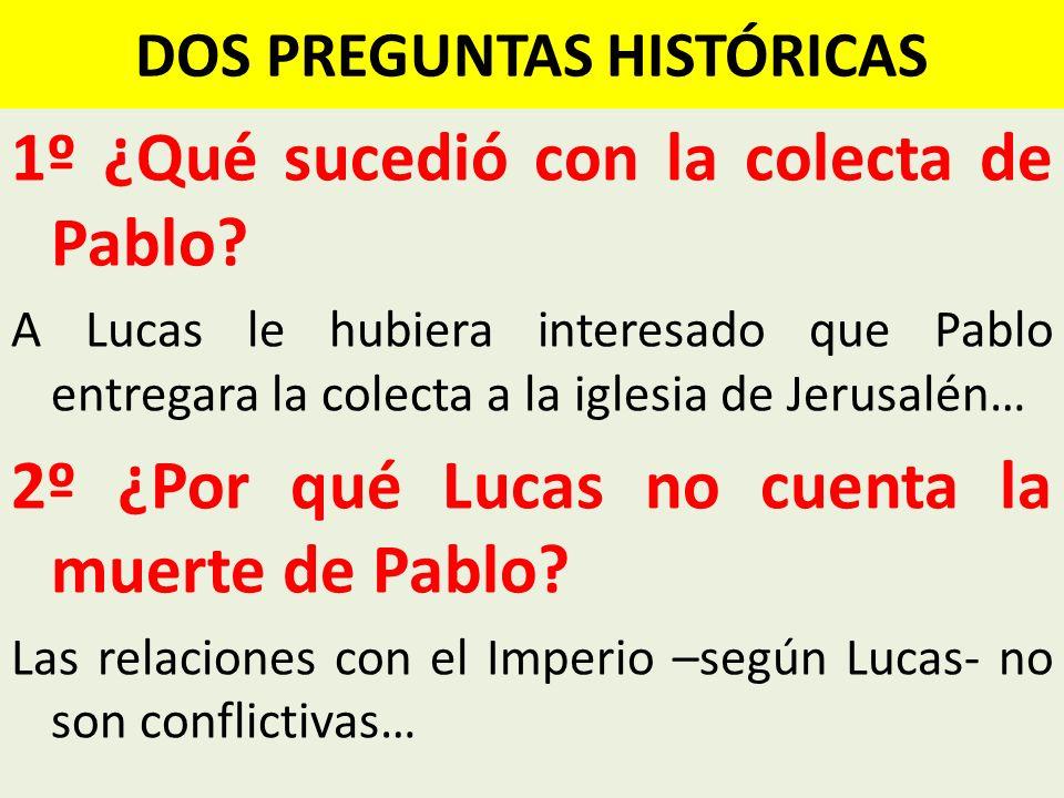 DOS PREGUNTAS HISTÓRICAS