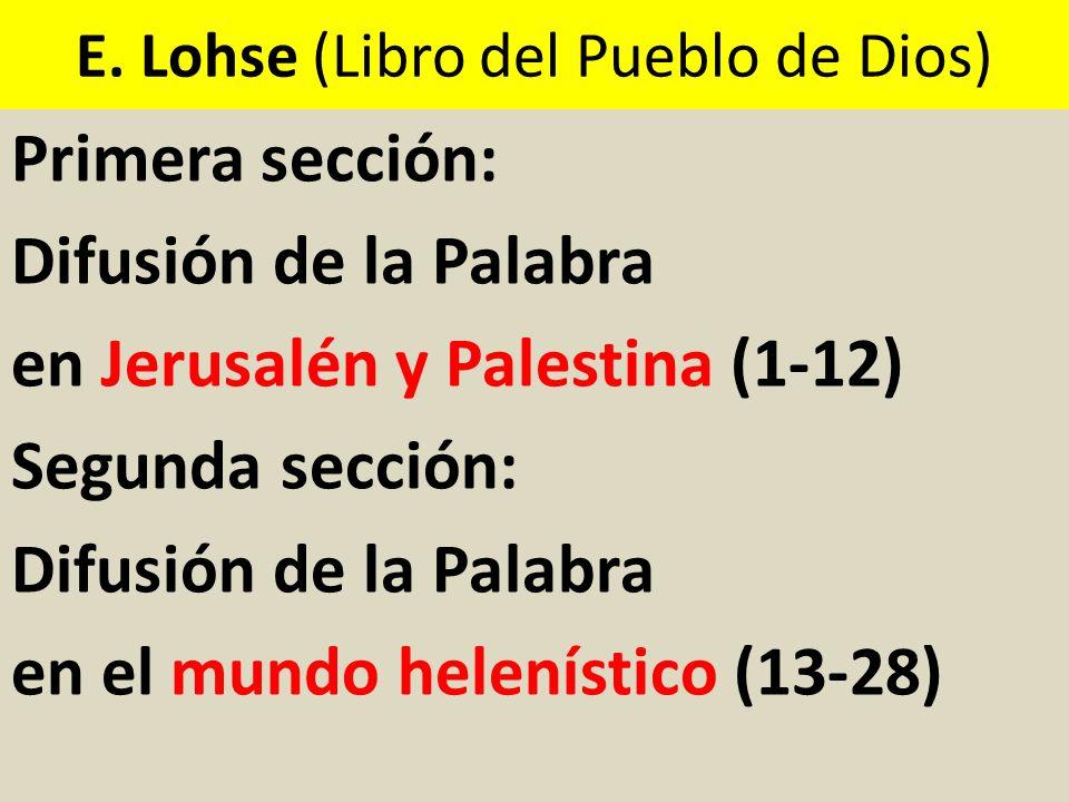 E. Lohse (Libro del Pueblo de Dios)