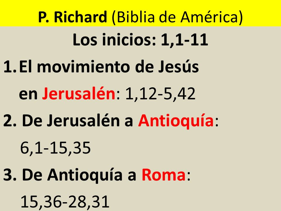 P. Richard (Biblia de América)