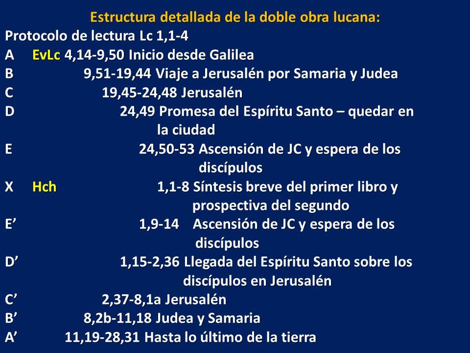Estructura detallada de la doble obra lucana: