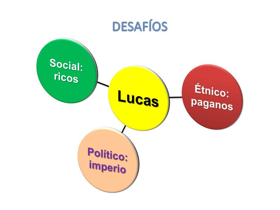 Lucas paganos Étnico: imperio Político: Social: ricos DESAFÍOS