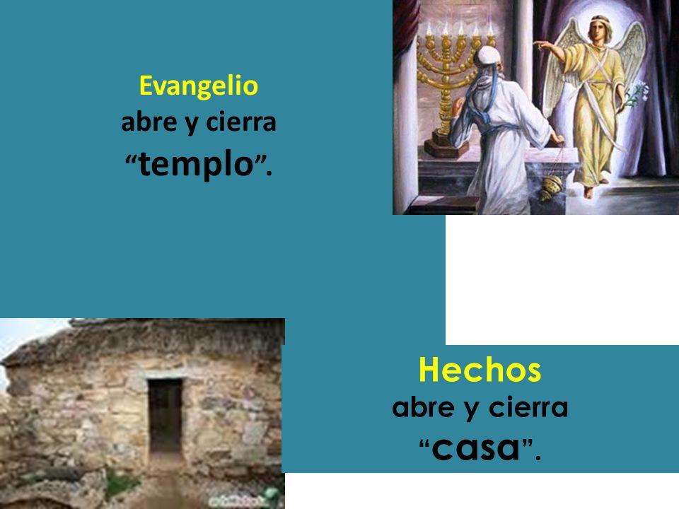 Evangelio abre y cierra templo .