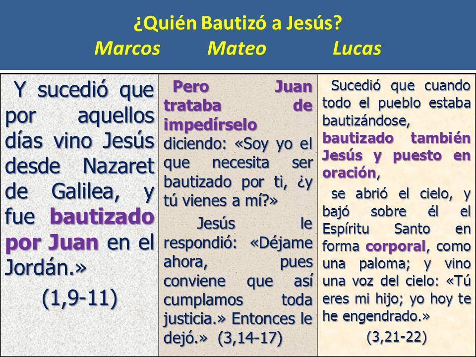 ¿Quién Bautizó a Jesús Marcos Mateo Lucas