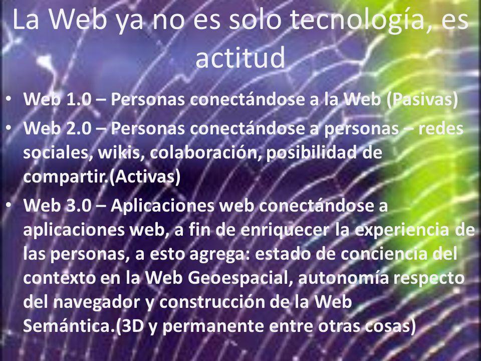 La Web ya no es solo tecnología, es actitud