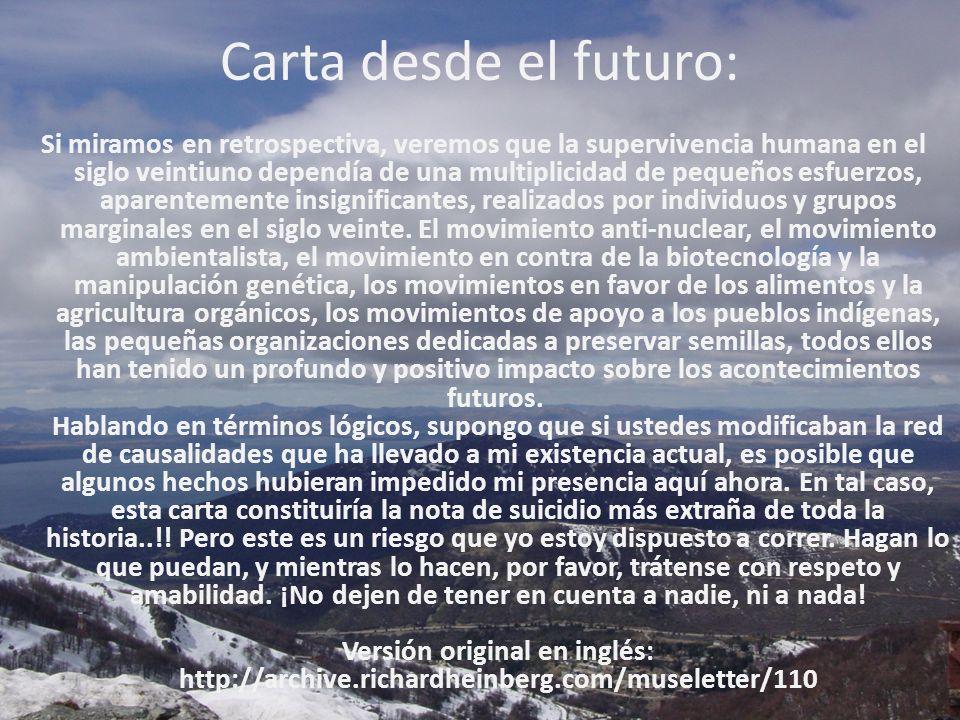 Carta desde el futuro: