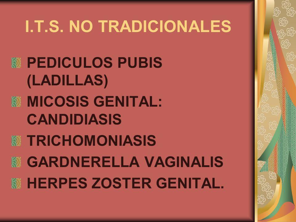 I.T.S. NO TRADICIONALES PEDICULOS PUBIS (LADILLAS)