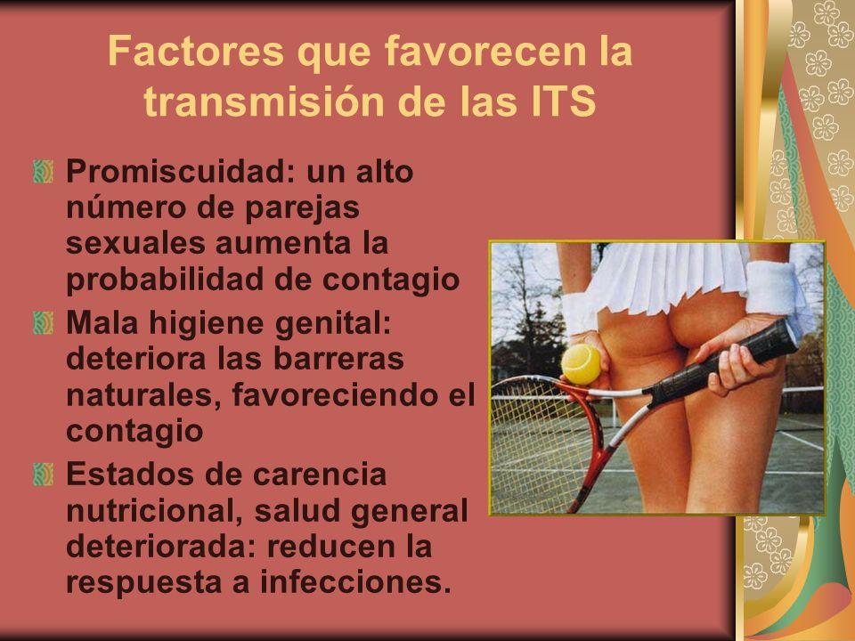 Factores que favorecen la transmisión de las ITS
