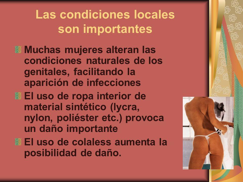 Las condiciones locales son importantes