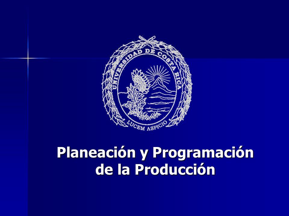 Planeación y Programación de la Producción