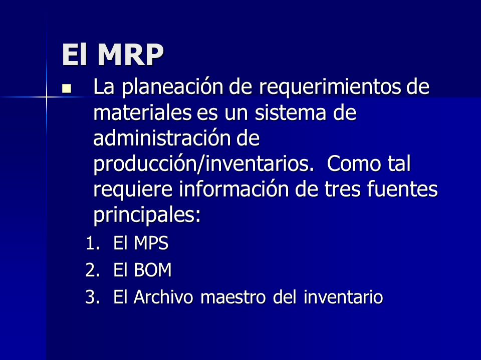 El MRP
