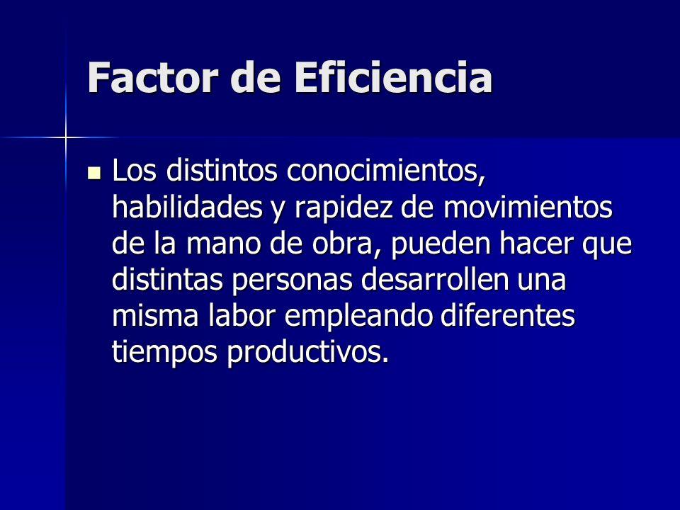 Factor de Eficiencia